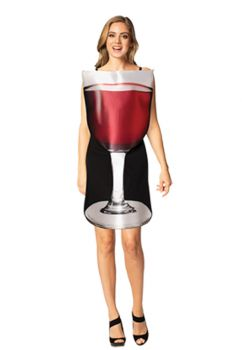 Women's Get Real Glass Of Red Wine Costume