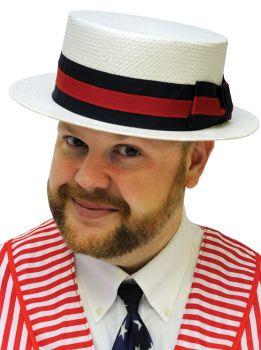 Skimmer Straw Hat - Hat Size L/XL