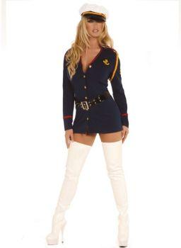 Women's Gentleman's Officer Costume - Adult 1X/2X (18 - 22)