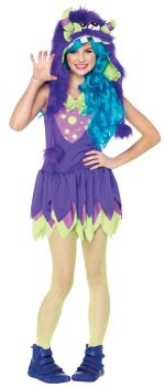 Teen Gerty Growler Monster Costume - Junior M/L