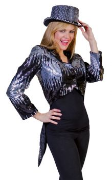 Glitter Tailcoat - Silver - Adult Small