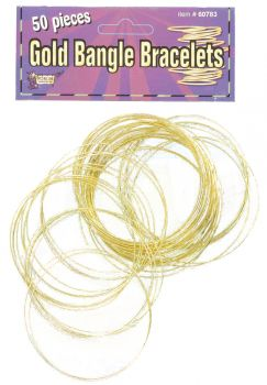 Gold Bangles 50 Per Pack