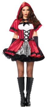 Women's Gothic Red Riding Hood Costume - Adult Small