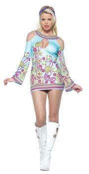 Women's Groovy Go Go Key-Hole Dress - Adult M/L