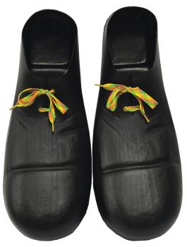 "15"" Plastic Clown Shoes - Black"