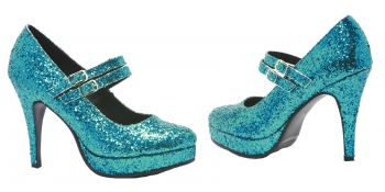 Women's Alice Platform Pump - Blue Glitter - Women's Shoe 7