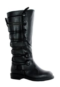 Men's Renaissance Boots - Black - Black - Men's Shoe M (10 - 11)