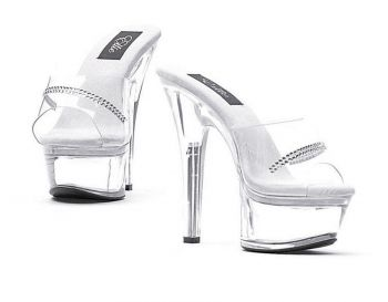 Women's Jesse Clear Platform High-Heels - Women's Shoe 6