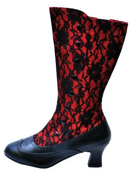 Women's Spooky Red Boot - Red - Women's Shoe 11