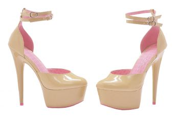 Women's Curissa Cancer Awareness Platform High-Heel - Pink - Women's Shoe 7