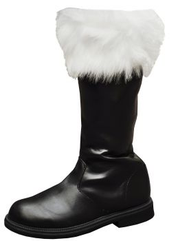 Santa Boot With Fur Cuff - Men's Shoe M (10 - 11)