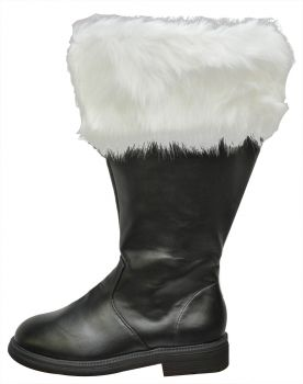 Santa Boot With Fur Cuff - Wide Calf - Men's Shoe S (8 - 9)