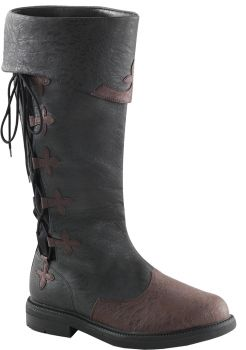 Men's Lace-Up Captain Boot #110 - Brown - Men's Shoe M (10 - 11)