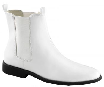 Men's White Trooper Boots - White - Men's Shoe XL (14)