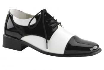 Men's Oxford Shoe - Black/White - Men's Shoe L (12 - 13)