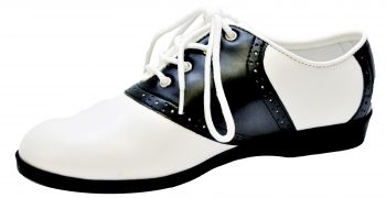 Women's Saddle Shoe - Black/White - Women's Shoe L (9 - 10)