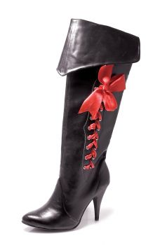 Women's Pirate Boot With Ribbons - Women's Shoe 7