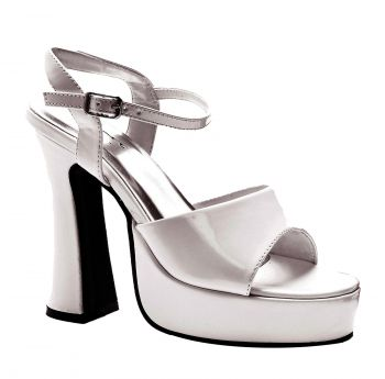 Women's Lea Platform Shoe - White - Women's Shoe 10