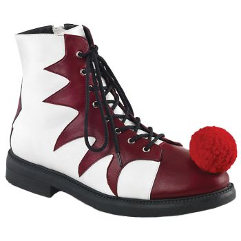 Evil Clown Shoes - Red/White - Adult Shoe Large