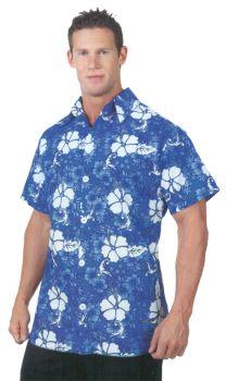 Hawaiian Shirt Blue Ad One Sz