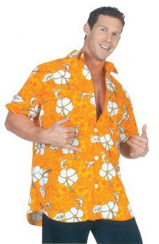Hawaiian Shirt Orange Adult Xl