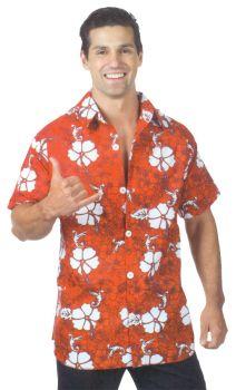 Hawaiian Shirt Red Adult Xl