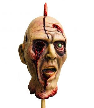 severed head on a stick prop