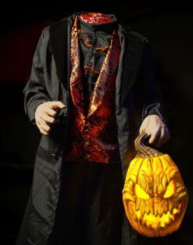 headless horseman halloween prop