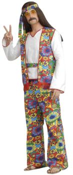 Hippie Man Adult Costume Plus