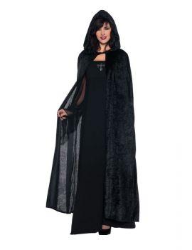 Hooded Cloak Black 55 Inches
