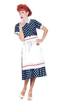 Women's Plus Size I Love Lucy Polka Dot Dress - Adult S (6 - 8)