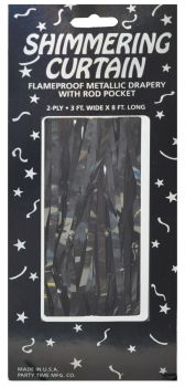 Shimmer Curtains - Black