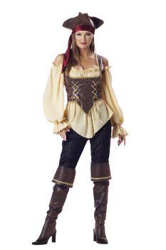 Women's Rustic Pirate Lady Costume - Adult L (12 - 14)
