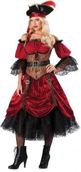 Women's Swashbucklin Scarlet Costume - Adult M (8 - 10)