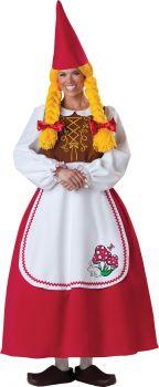 Women's Mrs. Garden Gnome Costume - Adult M (8 - 10)