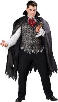 Men's Plus Size Vampire B Slayed Costume - Adult 2X (50 - 52)
