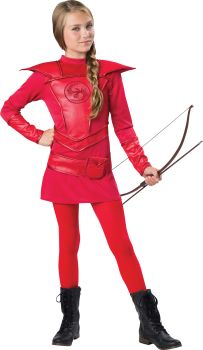 Warrior Huntress Red Costume - Tween S (8 - 10)