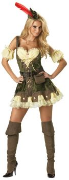 Women's Racy Robin Hood Costume - Adult L (12 - 14)