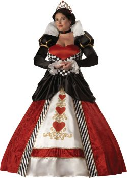 Women's Plus Size Queen Of Hearts Costume - Adult 2X (20 - 22)