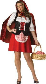 Women's Plus Size Red Riding Hood Costume - Adult 2X (20 - 22)