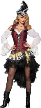 Women's High Seas Treasure Costume - Adult XS (0 - 2)