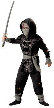 Boy's Dark Zombie Ninja 2B Costume - Child L (12)