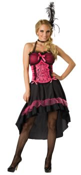 Women's Saloon Gal Costume - Adult L (12 - 14)