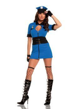 Women's Intriguing Interrogator Costume - Adult XL (14 - 16)
