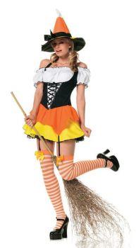 Women's Sexy Kandy Korn Witch Costume - Adult Medium