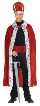 King Robe & Crown Set Adult - Red