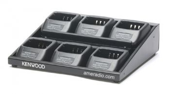 Six Unit Multi Charger for Li Ion Kenwood Radios