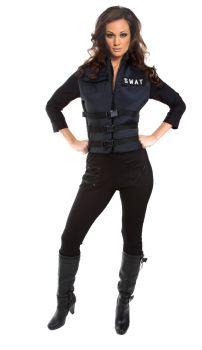 Lady SWAT Costume - Adult Large