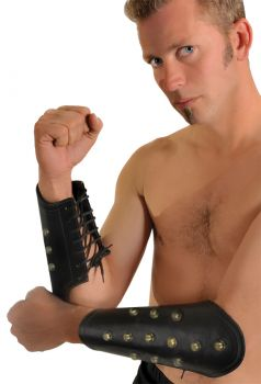 Leather Arm Guards Studs