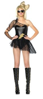 Women's Lightening Rocker Costume - Adult S/M